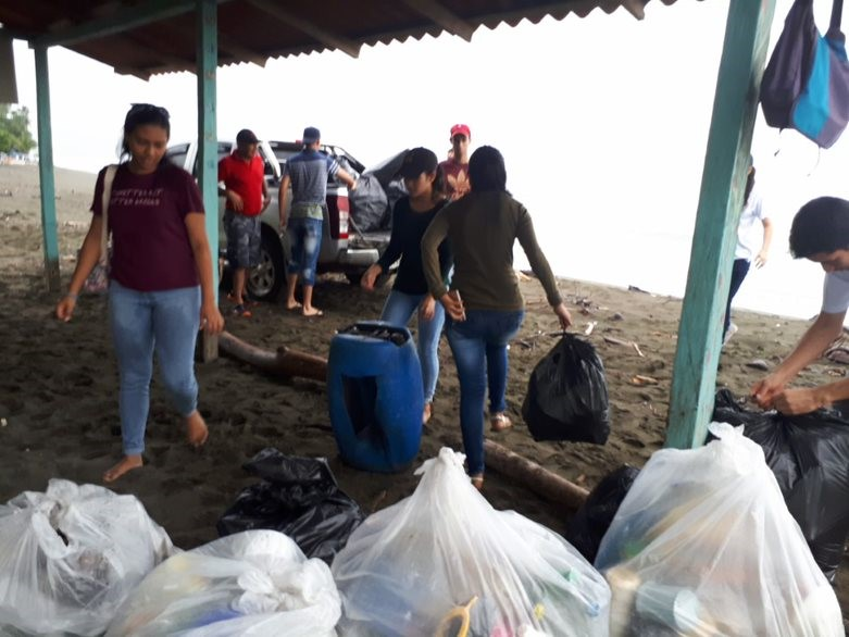 Estudiantes en limpieza de playas