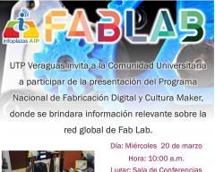 Presentación de Programa Nacional de Fabricación Digital